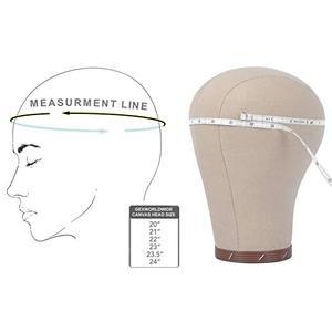 "Image 5 - 21""/22""/23""/23.5""/24"" Canvas block head Mannequin Head weft/wig display style styling manikin head cork inside dryer 10"" Tall"