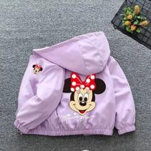 Vêtements d'automne pour enfants, dessin animé Minnie, veste pour garçons et filles, vêtements de sortie, Cardigan pour enfants