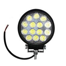 Samochód LED światła Offroad robocza listwa oświetleniowa dla Jeep 4x4 4WD AWD Suv ATV 12v 24v lampa do jazdy motocykl światła przeciwmgielne przednia lampa do jazdy