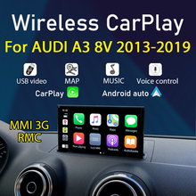 Draadloze Carplay Voor Audi A3 V8 2013 ~ 2019 Mmi 3G Rmc Android Auto Spiegel Link Siri Voice Control