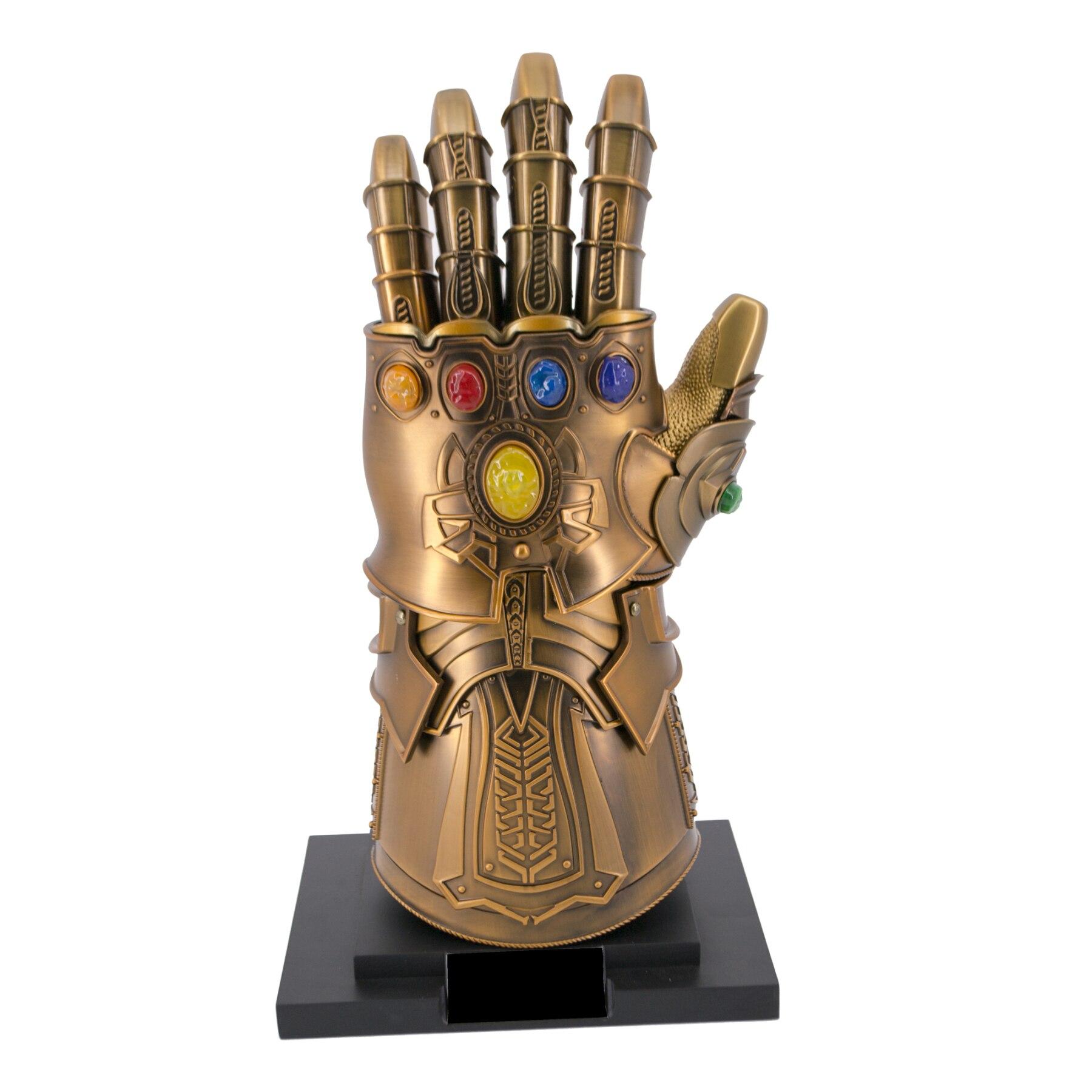 Figure S0218 Model's Gauntlet Infinite Metallic. Replica Not Official. Glove Articulated In Bronze Color With Gem