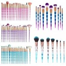 7/10/15/20pcs Professional Makeup Brushes Diamond Crystal Make Up Brushes Blending Brush Cosmetic Brush Set Pincel Maquiagem