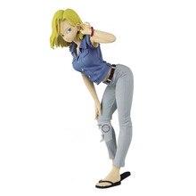 Original Banpresto Dragon ball Z Figure paillettes & glamour couleur spéciale Android 18 #1 figurales Brinquedos