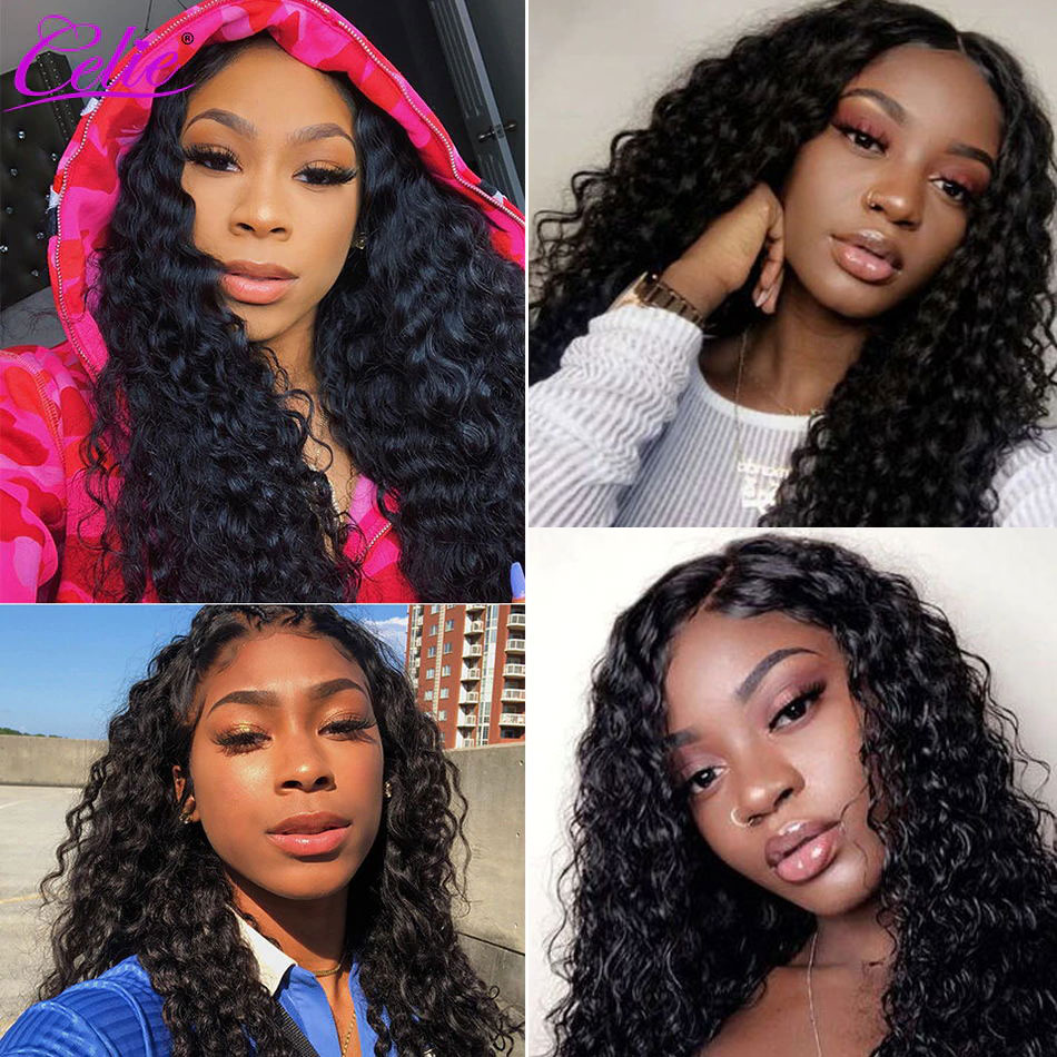 Celie Hair Deep Wave Wig 6x6 Lace Closure Human Hair Wigs Pre Plucked Glueless Brazilian Lace Celie Hair Deep Wave Wig 6x6 Lace Closure Human Hair Wigs Pre Plucked Glueless Brazilian Lace Wig Deep Curly Human Hair Wig