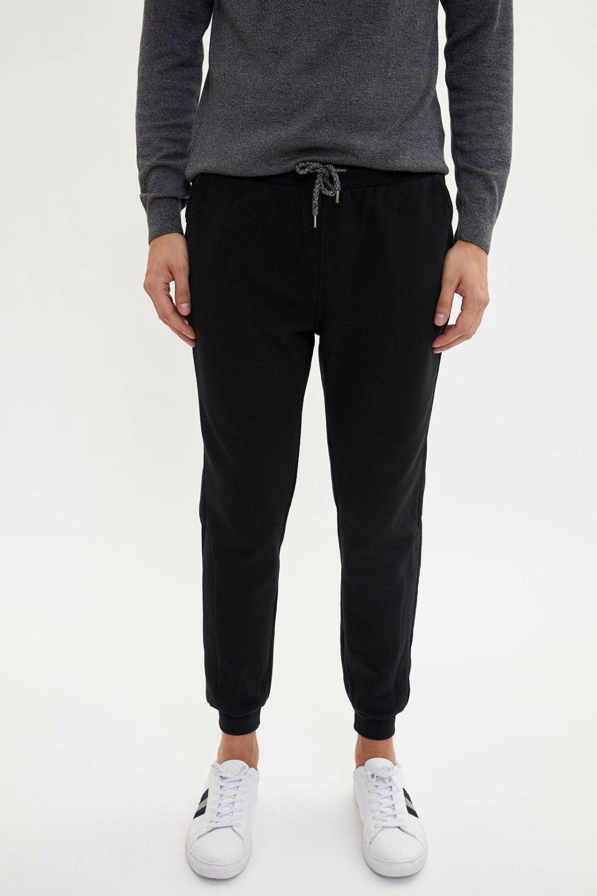 DeFacto Fashion Man Casual Drawstring Waist Trousers Male Sport Long Pants For Men's High Quality Sweatpants New - L5614AZ19AU