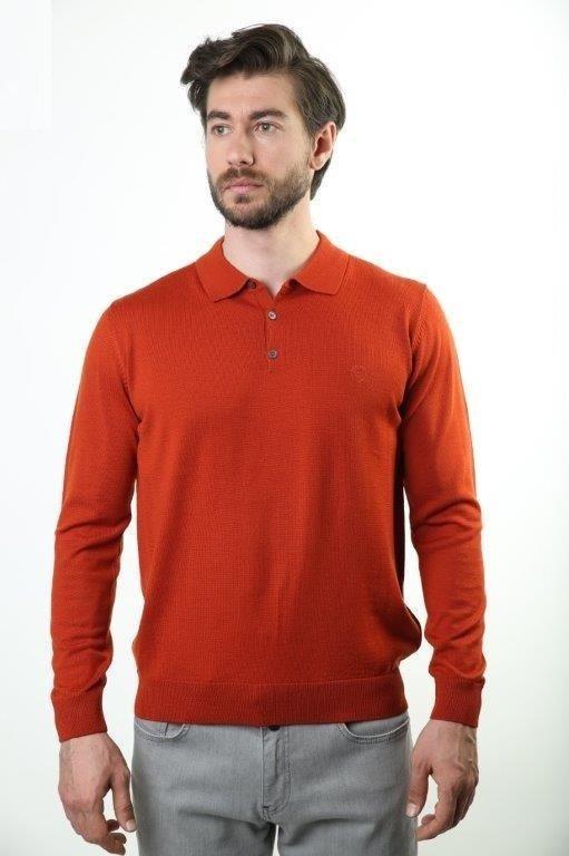 Sweater Polo Collar Male Sweater 6000