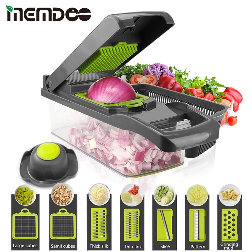 MEMDOO MultifunctionVegetable Cutter Grater Mandoline Slicer Vegetable Chopper Carrot Slicer Grinder Fruit Cutting Machine