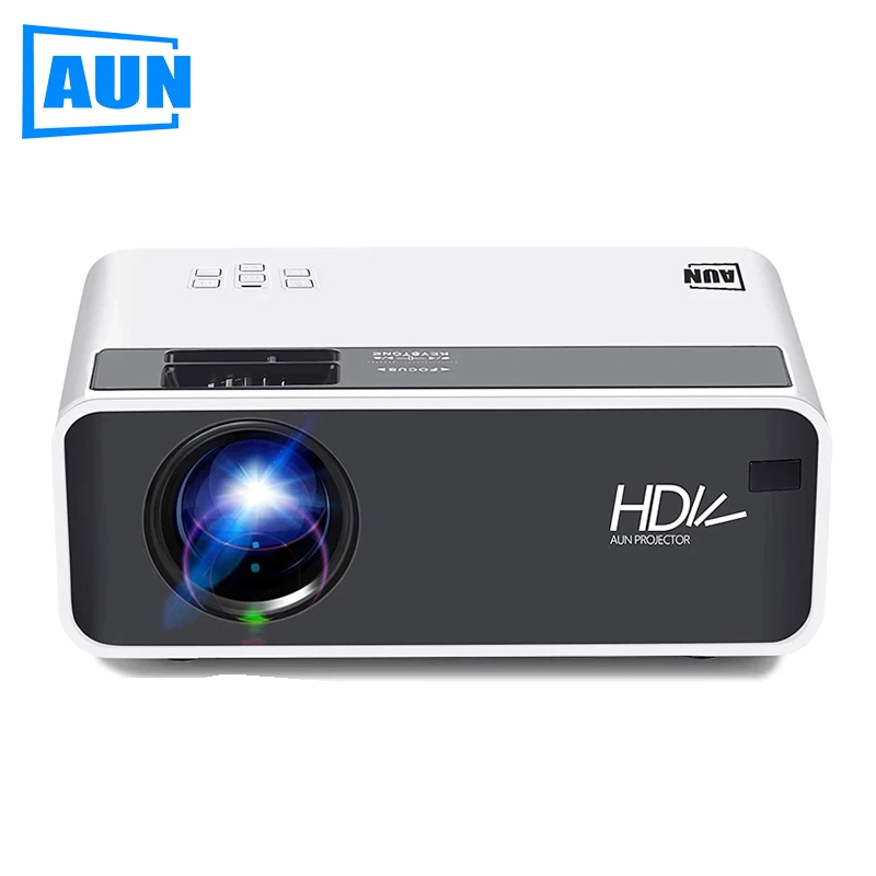 AUN LED HD Projector D60 | 1280x720P | Support 3D Video Movie Games Beamer, Home Cinema, Optional Android WIFI Proyector D60S