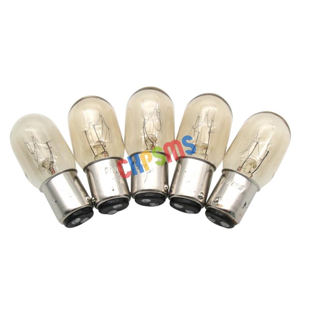 Светильник пы нажимные # BA15D 220 В для домашней швейной машины Singer, 15 Вт, 220 В, 5 шт.
