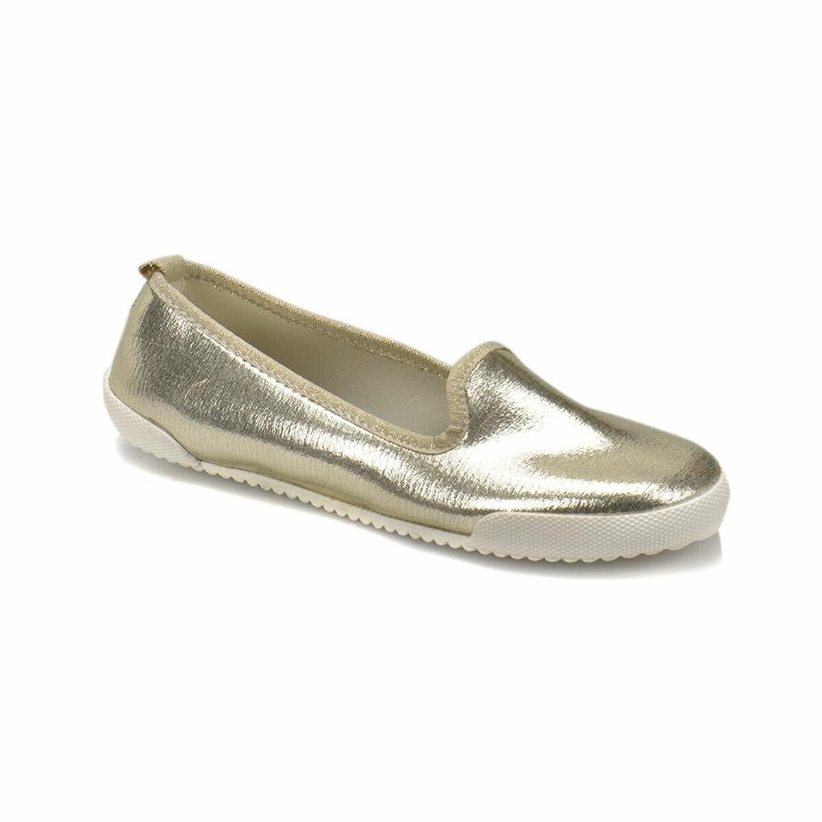 FLO Gold Women Slipper Woman Summer Beach Slides Flip Flops Outdoor Flat Slipper Women Slip On Shoes Art Bella CS18091