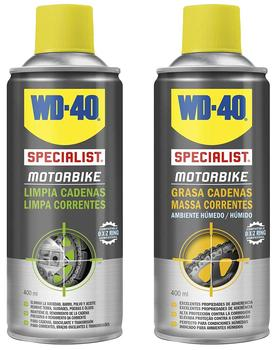 WD40 Specialist Motorbike-Pack Spray Clean 400Ml + Fat Chains Chains's 400ml MOTO Motorcycle accesories dove 400ml