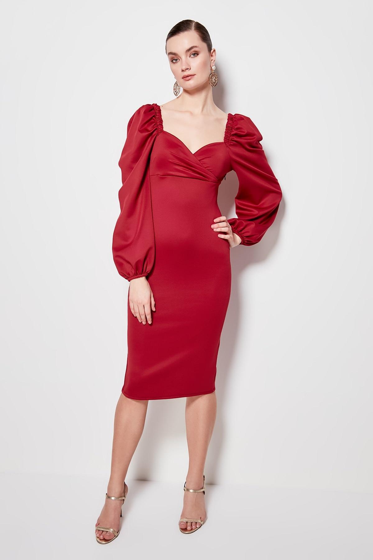 Trendyol Sleeve Detail Dress TPRSS20EL1010
