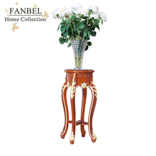 FANBEL furniture stand flowers color classic Spanish walnut with gold shape Classic