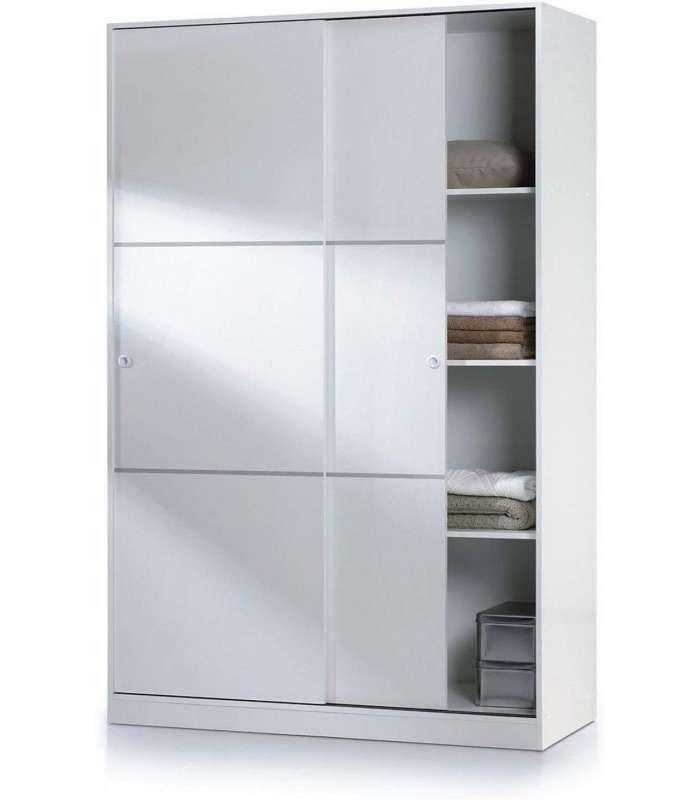 Wardrobe Wardrobe Sliding Doors White 120 Cm Wide
