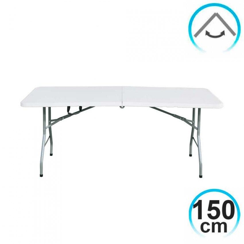 Folding Table 150cm Rectangular White Caterers GH91