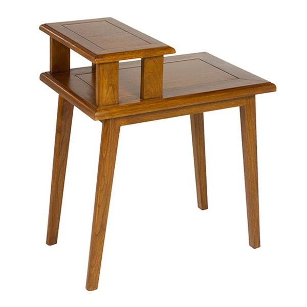 Small Side Table (60 X 40 X 70 Cm) Walnut Mindi Wood