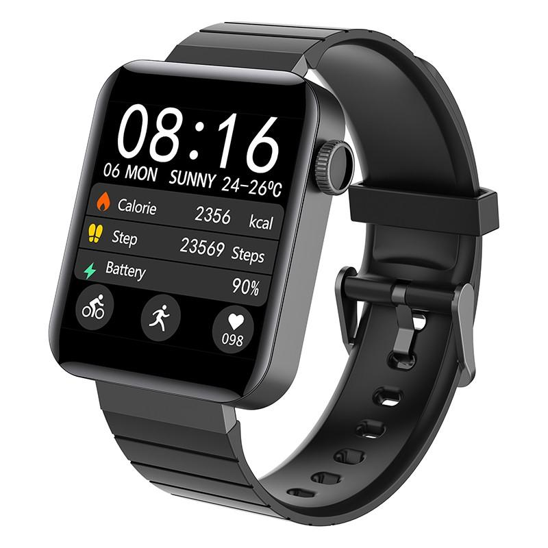 New Square Smart Watch Bracelet APP Bluetooth Fitness Wristband Step Counting Calorie Weather Smart Band Waterproof Smartwatch image
