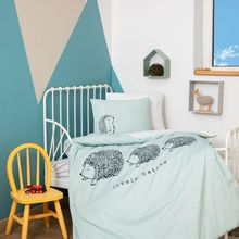 Organic 100% Cotton Baby Bedding Set, Quilt Cover Duvet Cover Bed Linen Bed Sheet Pillowcase Crib Newborns Soft Boy Girl Cartoon
