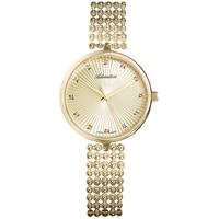 Relógios femininos em uma pulseira de aço com revestimento pvd com luz solar de vidro mineral|Relógios femininos| |  -