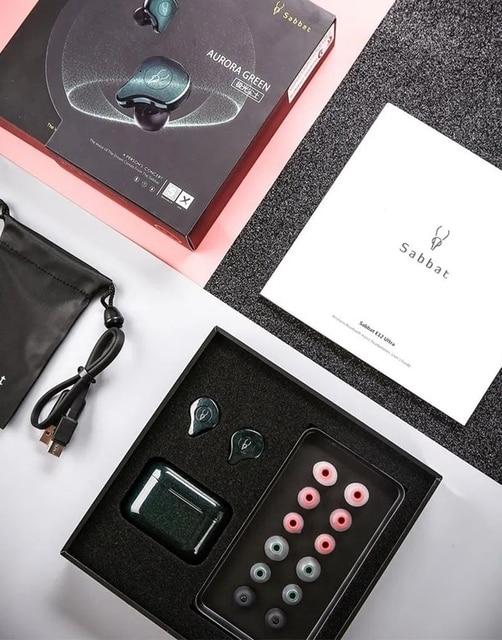 Écouteurs HiFi sans fil Sabbat E12 Ultra TWS Bluetooth 5.0, écouteurs antibruit anti-transpiration avec micro intégré pour le sport
