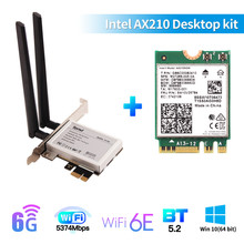 Wi-Fi-Card Dual-Band 6-Ax200-Adapter Bluetooth AX210NGW M.2 Wifi Windows-10 NGFF Desktop