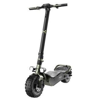 """Cecotec Patinete eléctrico Bongo Serie Z Off Road Green. 1100 W, Batería extraíble, Autonomía ilimitada desde 40km, Ruedas 12"""""""