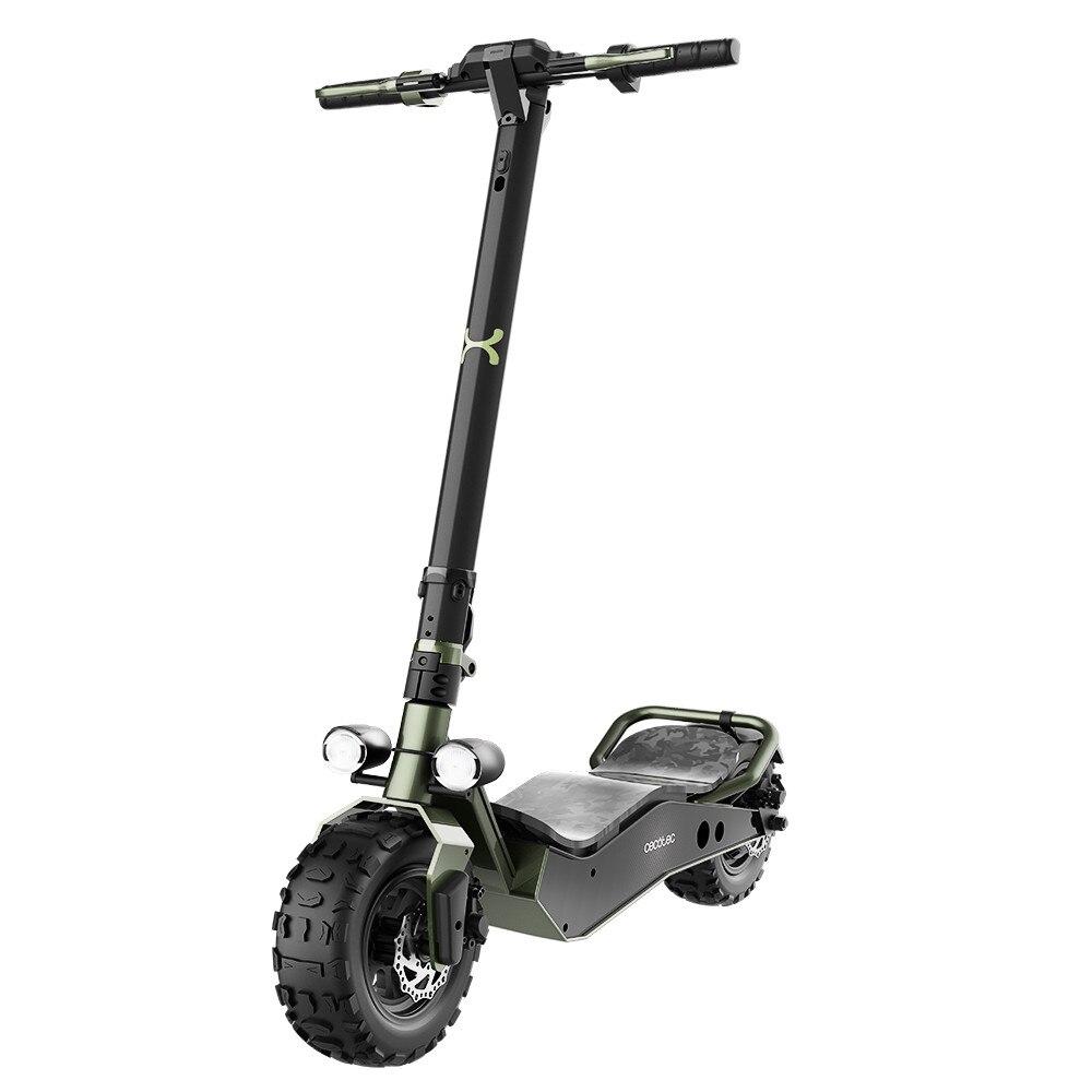 Cecotec Patinete Eléctrico Bongo Serie Z Off Road Green. 1100 W, Batería Extraíble, Autonomía Ilimitada Desde 40km, Ruedas 12