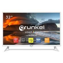 Grunkel, LED-3220BLANCOSMT, Televisor LED Smart TV, Wi-Fi, Panel HD Ready TDT Alta Definición, 32 Pulgadas, color Blanco