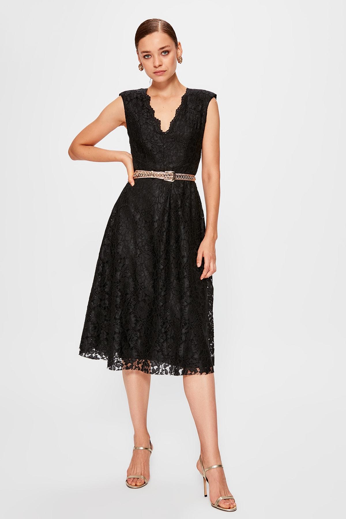Trendyol Filet Lace Dress TPRAW20EL0535 Dresses    - AliExpress