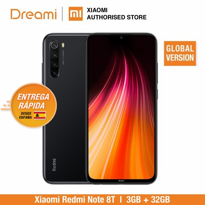 Global Version Xiaomi Redmi Note 8T 32GB ROM 3GB RAM (Official Rom), Note 8 T, Note8t, Note8 Smartphone Mobile
