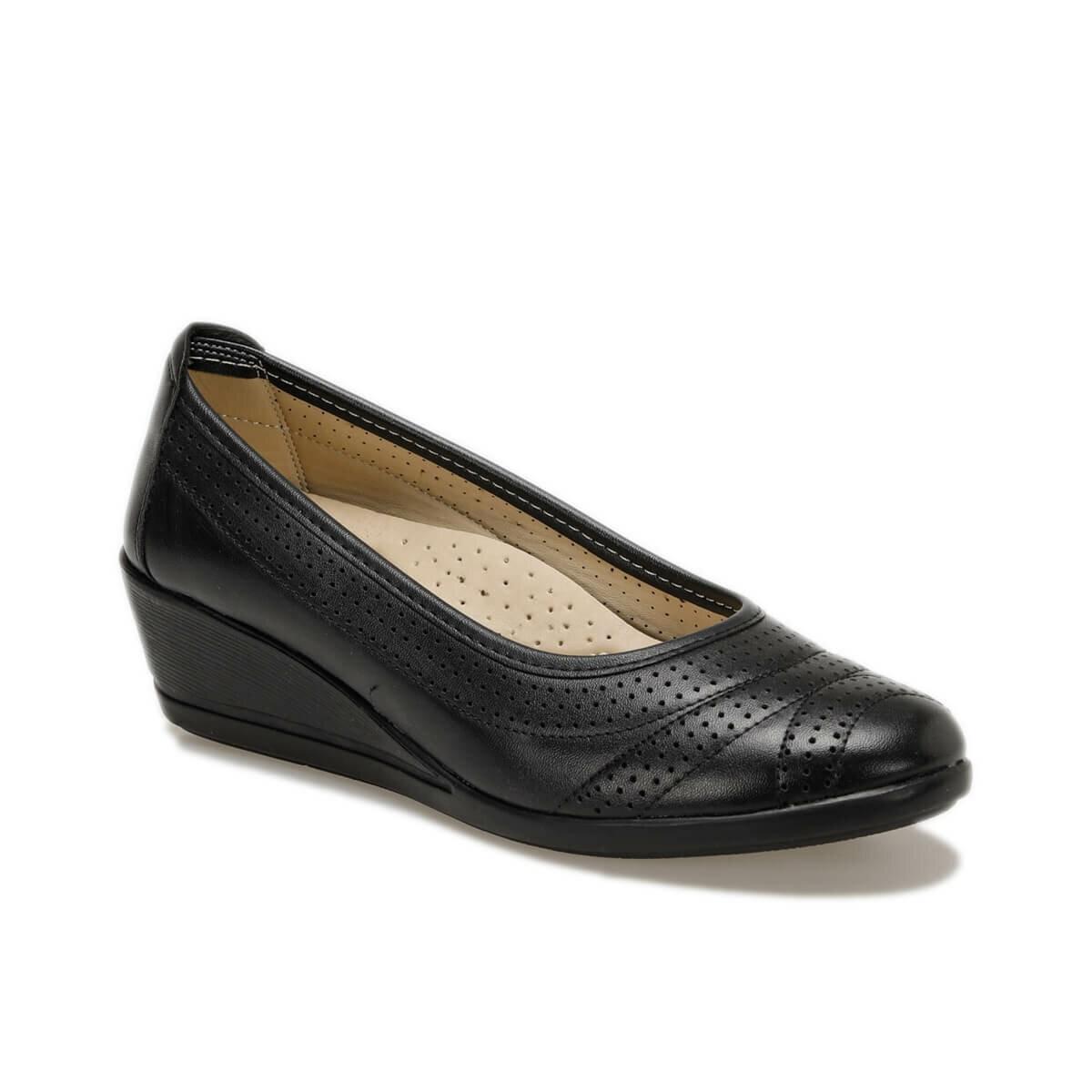 FLO 71. 157552.Z Black Women 'S Wedges Shoes Polaris