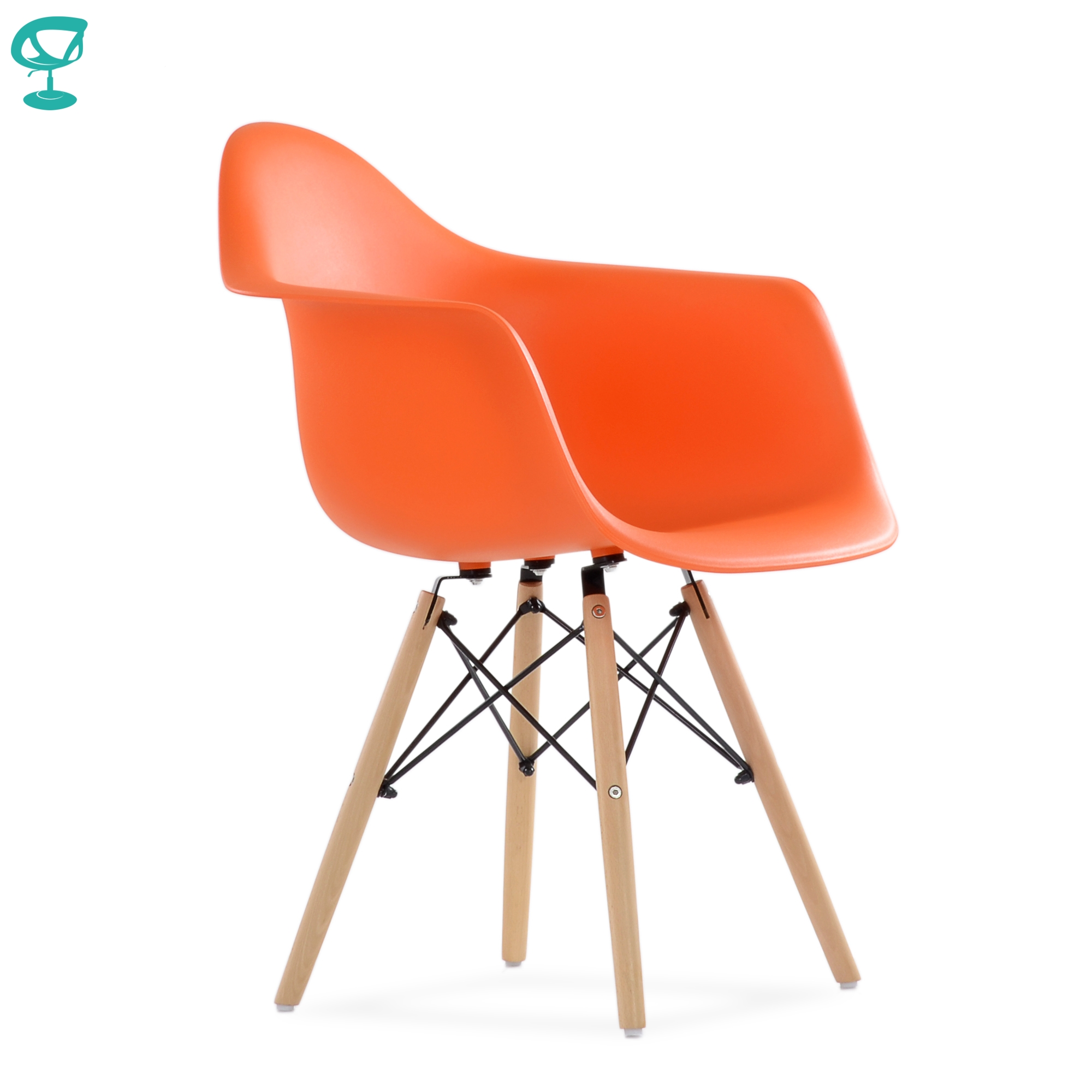95752 Barneo N-14 Plastic Kitchen Breakfast Interior Stool Bar Chair Kitchen Furniture Orange Free Shipping In Russia