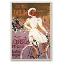 Légendaire, affiche Vintage Usines publicitaires Delin-impression sur toile cm. 50x70
