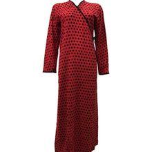 Namaz Elbisesi Lüx Viskon Dokuma Kumaş Kırmızı Puanlı Desen