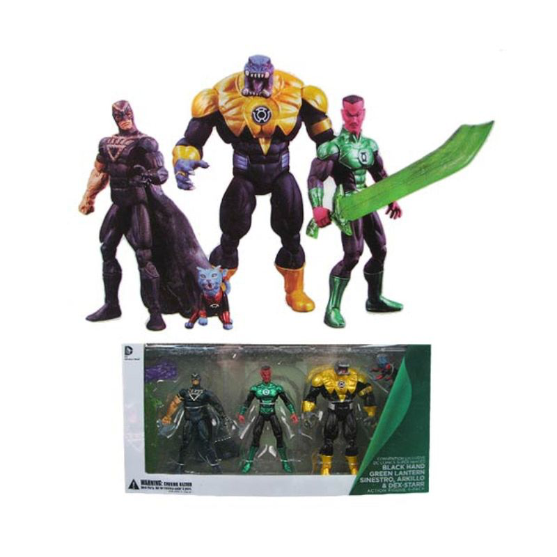 DC Collectibles SDCC 2013 Mano Nera, Lanterna Verde Sinestro, arkillo e Dex-Starr Action Figure 4-Pack
