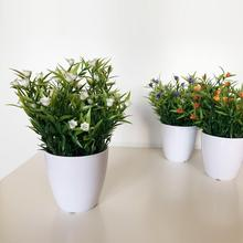 Pack 12 assorted artificial plants with flowers from 23 cm with flower pot