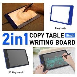 11-дюймовая двухсторонняя графическая доска для рисования с шкалой, Трехцветная подсветка, цифровой планшет для рисования, подарок на день р...