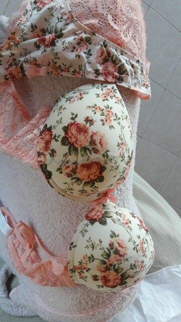 Famous Brand Sexy High Quality Women Print Bra set Silk Lace Flower Push up Big size Underwear Bow Bra and Hollow out Panties|women print bra set|bow brabra set - AliExpress