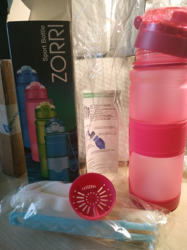 ZORRI Gift Bottle For Water Tour Outdoor Protein Shaker Sports Water Bottle Leak Proof Seal Water Bottles BPA free Drink Bottle|Water Bottles|   - AliExpress