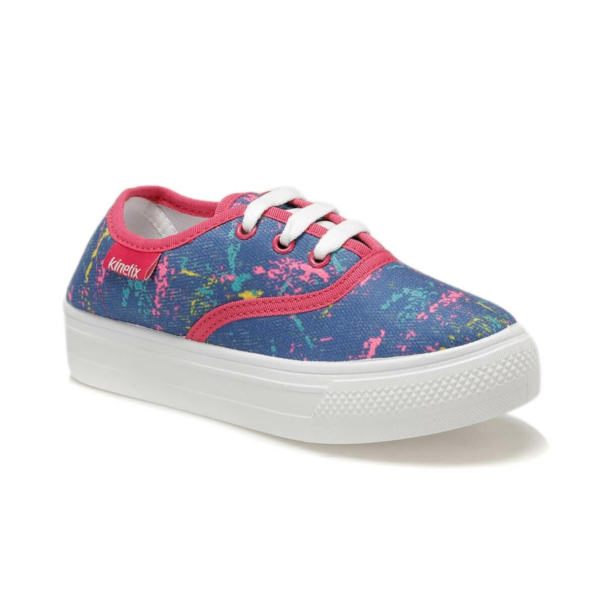 FLO MOSSE Blue Girl Children Sneaker Shoes KINETIX