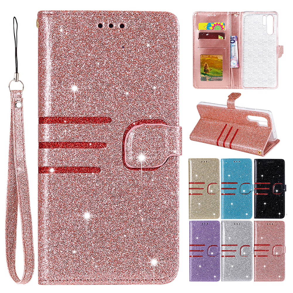 KISSCASE pro iPhone 7 6 6S XS X pouzdro Třpytky Kožené Flip - Příslušenství a náhradní díly pro mobilní telefony