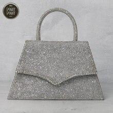 Блестящая блестящая вечерняя сумка женская через плечо для женщин