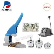 Пакет продаж 50 мм аппарат по изготовлению бэджей+ 50 мм металлическая для бумаги Резак+ 500 шт металлический штырь приспособление для Бейджа