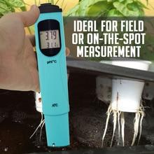 Pen type pH & Temperature Meter Tester 0.00-14.00pH & 0.0-55.0degC Range Water Quality Tester Kit w/ ATC Dual-level LCD недорого