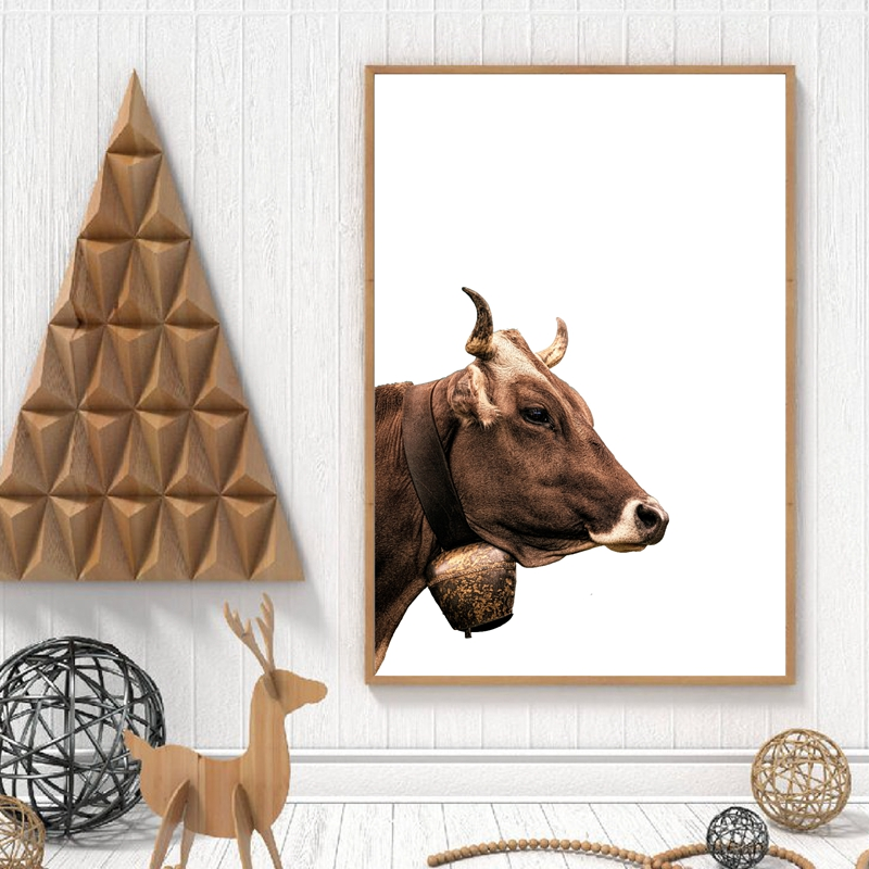 Farm Cow Poster Print Christmas Decor
