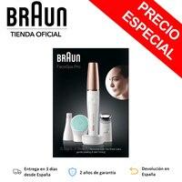 Braun electric FaceSpa Pro 913 Epilator Facial female 3 head accessories including MicroVibración brush Facial Cleaning