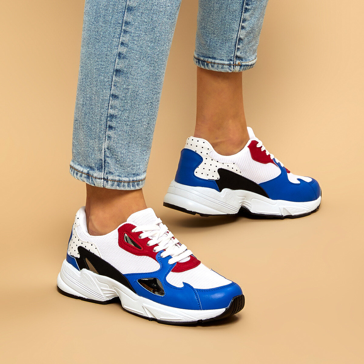FLO 19K-961 BLUE MULTI Women 'S Sneaker BUTIGO