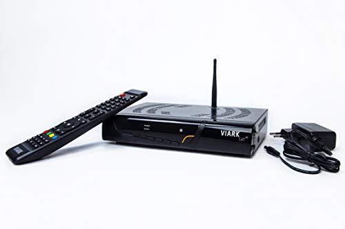 Viark Sat 4K Receptor Sat/élite 4K Multistream UHD DVB-S2X H.265 HEVC 60fps con LAN y Antena WiFi por USB