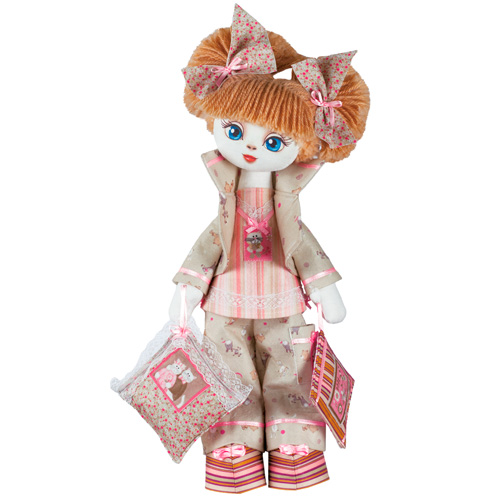 K1009 Set For Creating A Frame Textile Doll 'sony' 45 Cm