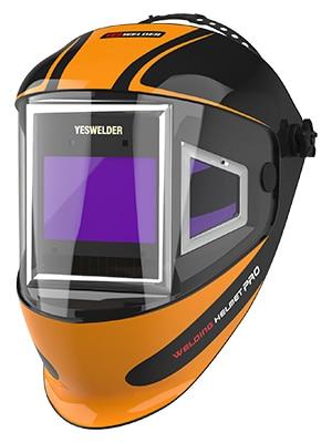Mascara de soldadura YESWELDER de oscurecimiento automático con filtro de visión de 180°